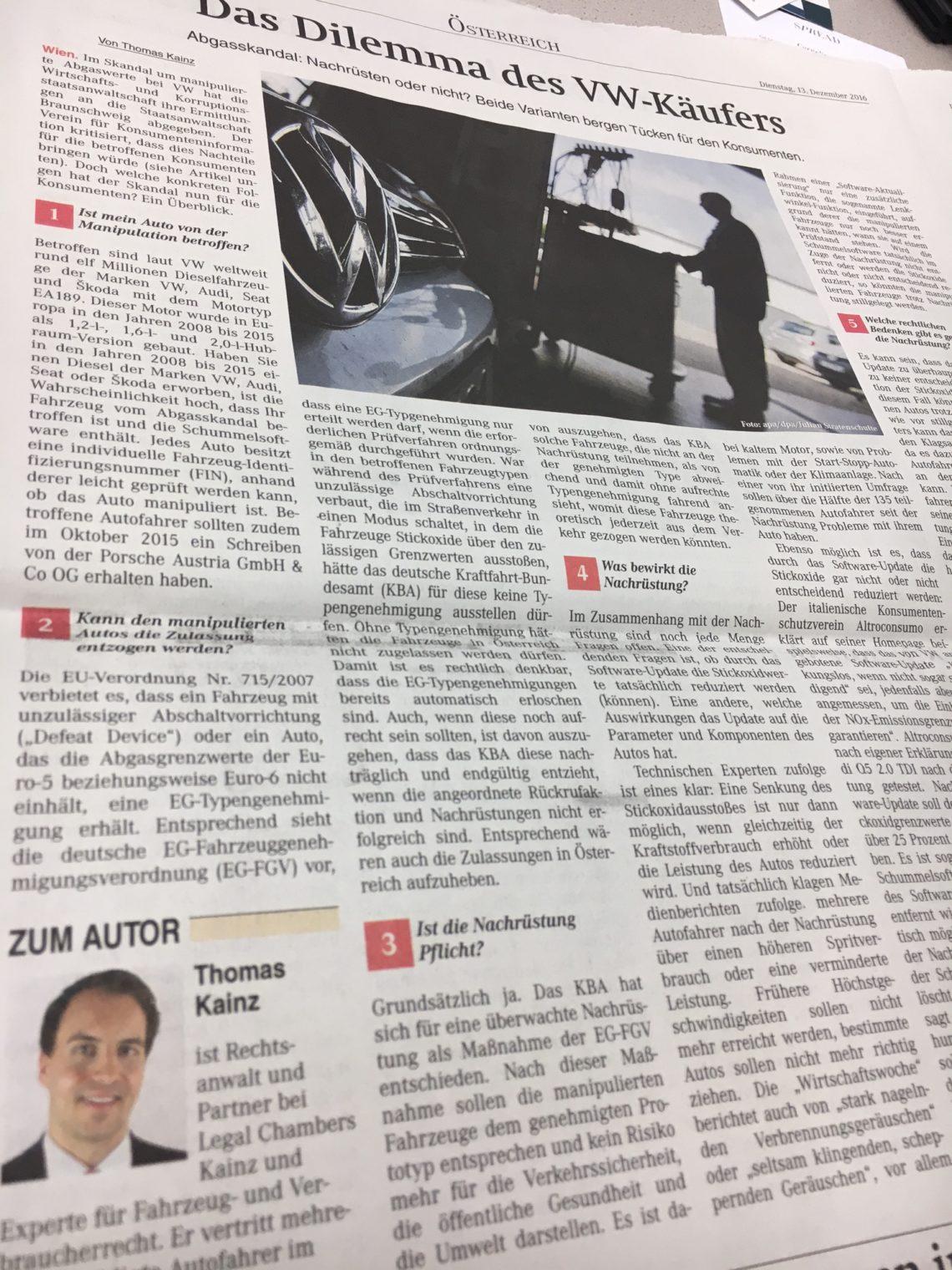 Der VW-Skandal